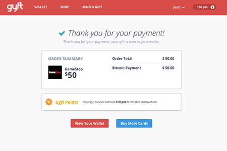 successfully buy gift cards with coinbase