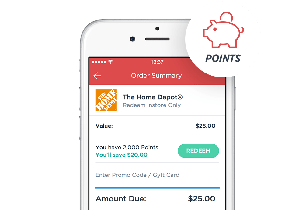 Use Gyft Points to Save on Gift Cards