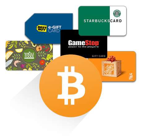 Buy gift cards with Bitcoin!