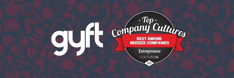 gyft ranks on entrepreneur top company cultures