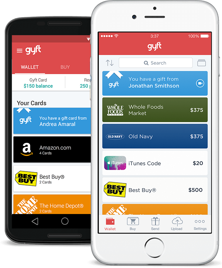 Gyft: Buy, Send & Redeem Gift Cards Online or with Mobile App
