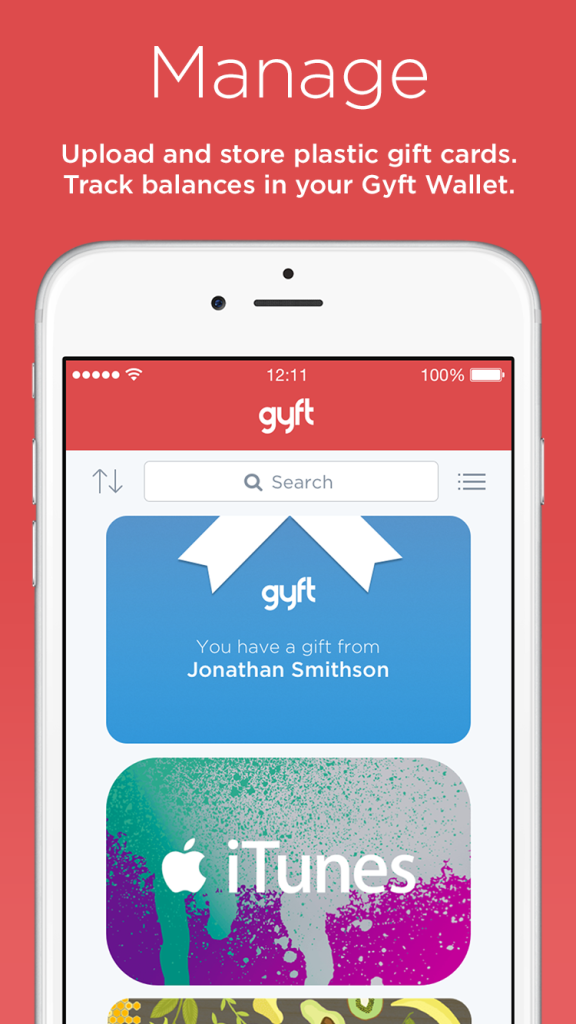 Gyft Manages your gift cards